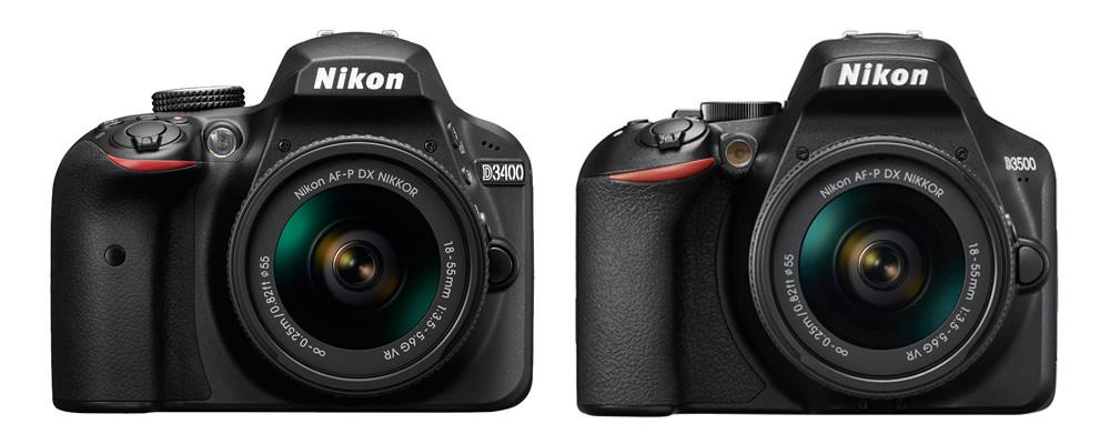 Nikon D3400 Vs Nikon D3500 front