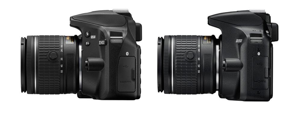 Nikon D3400 Vs Nikon D3500 side