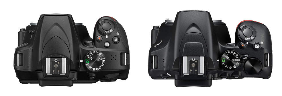 Nikon D3400 Vs Nikon D3500 top view