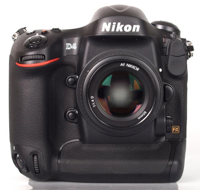 Nikon D4 Front Lens On