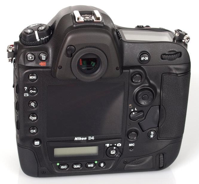Nikon D4 Rear Angle