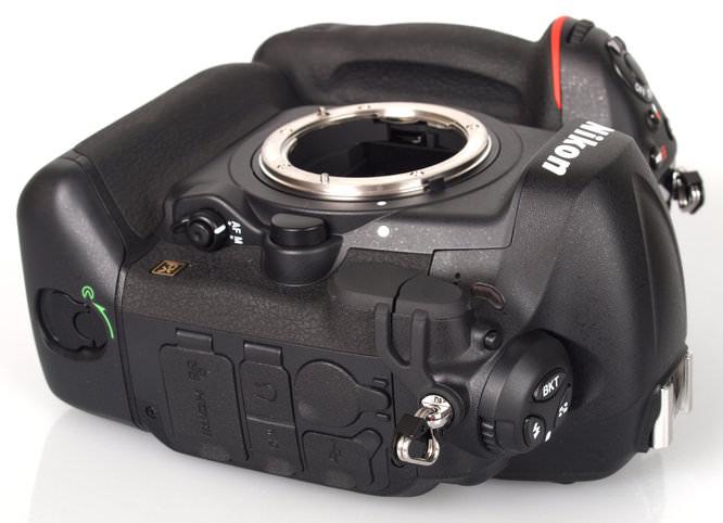 Nikon D4 Side Ports Angle