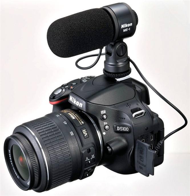 Nikon D5100 DSLR with ME-1