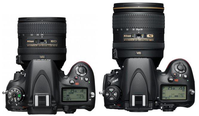 Nikon D600 Vs Nikon D800 Size Comparison Top