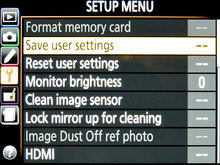 Nikon D7100 Dslr Setup Menu