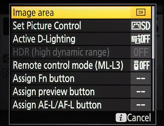 Nikon D7200 I Menu