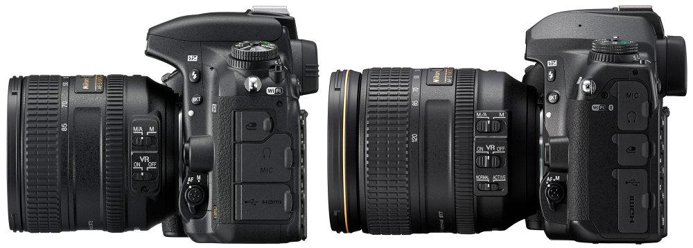 Боковые порты Nikon D750 и D780