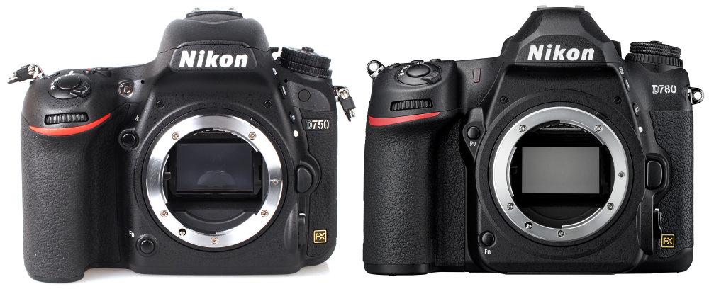 Nikon D750 Фронт против D780 Dslr