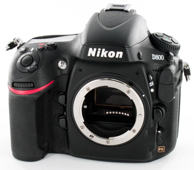 Nikon D800 Front Angle