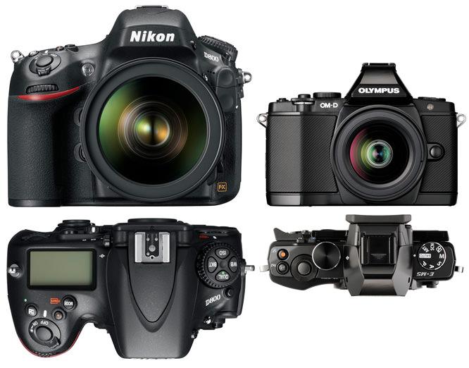 Nikon D800 vs Olympus OM-D E-M5