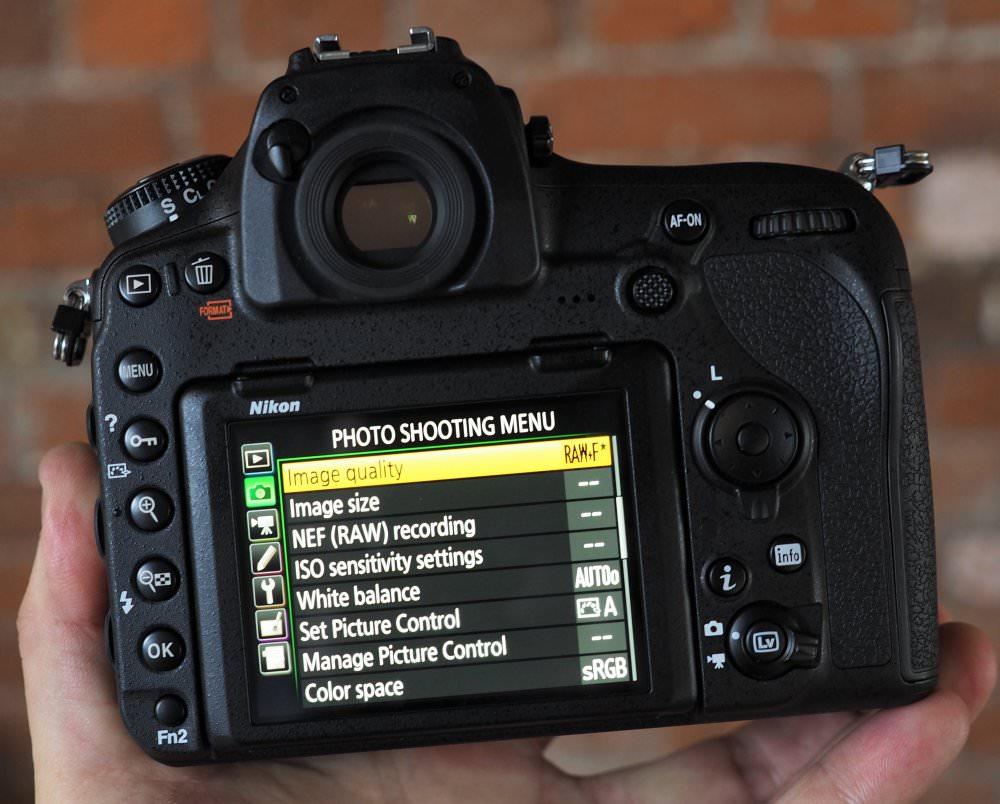 Nikon D850 Back
