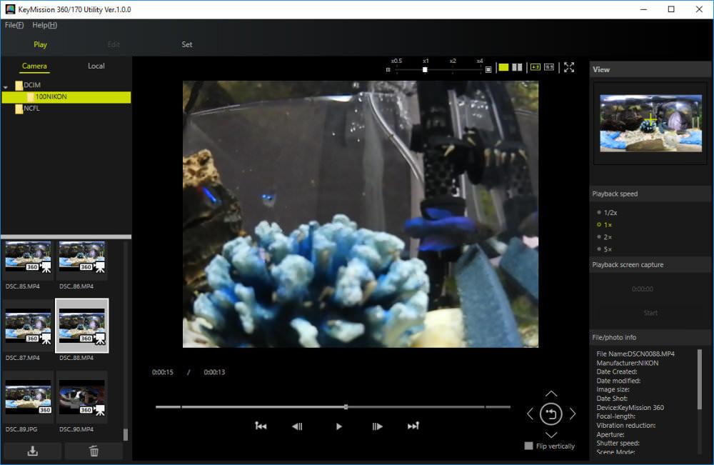 Nikon Keymission 360 Desktop App