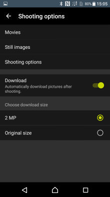 Nikon Snapbridge 360 170 App Shooting Options