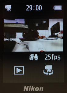Nikon KeyMission 80 Screen Size