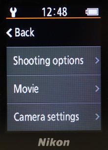 Nikon KeyMission 80 Shooting Options