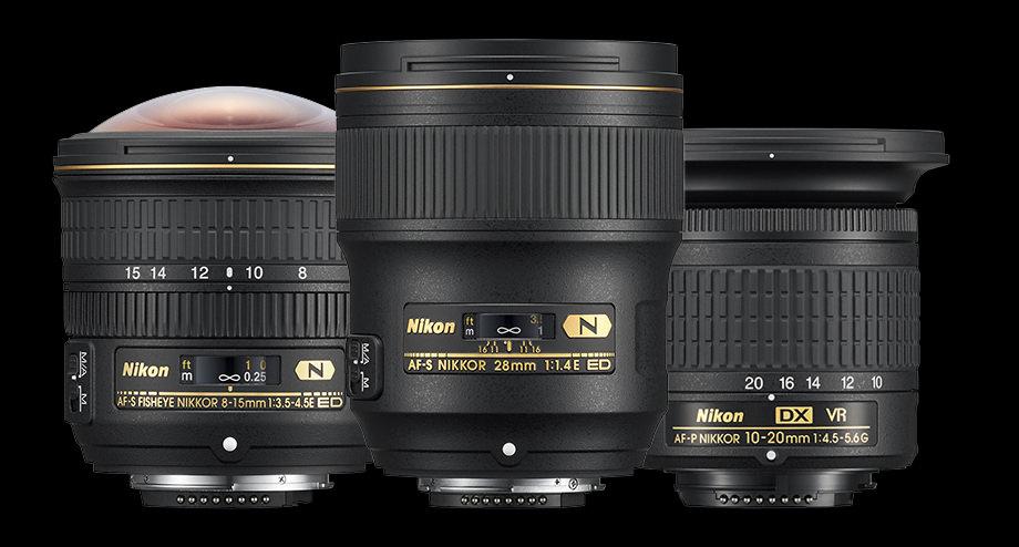 Nikon Lenses Black Bg
