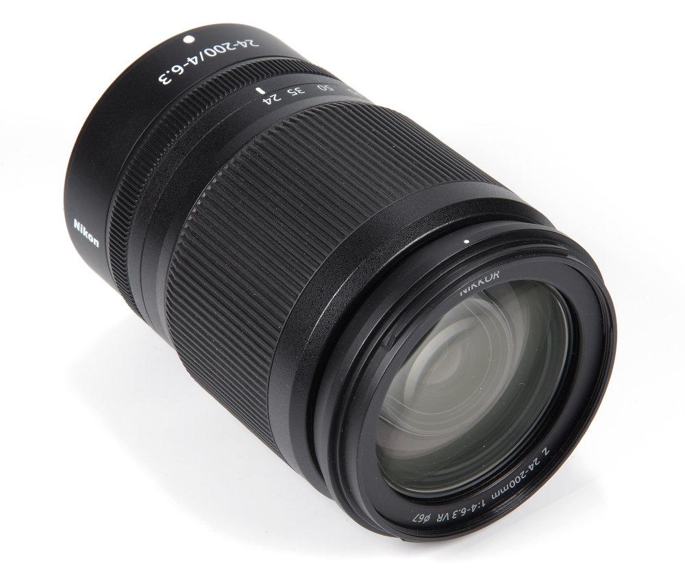 Nikkor Z 24 200mm F4 6,3 VR Front Oblique View