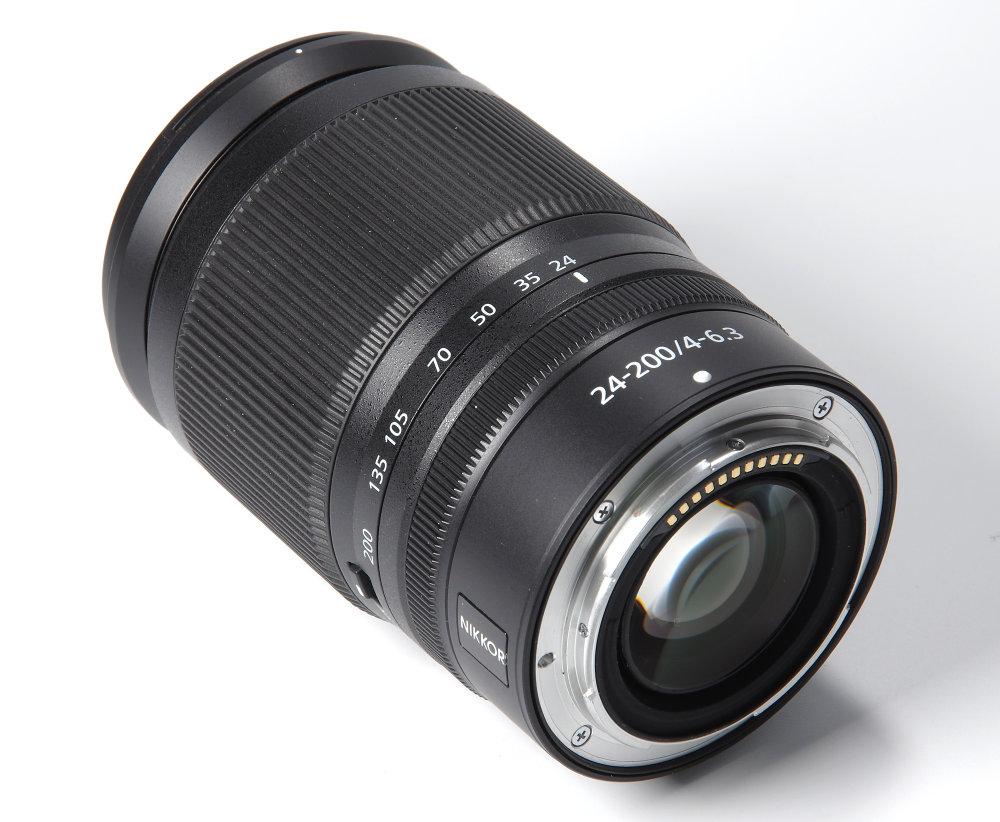 Nikkor Z 24 200mm F4 6,3 VR Rear Oblique View