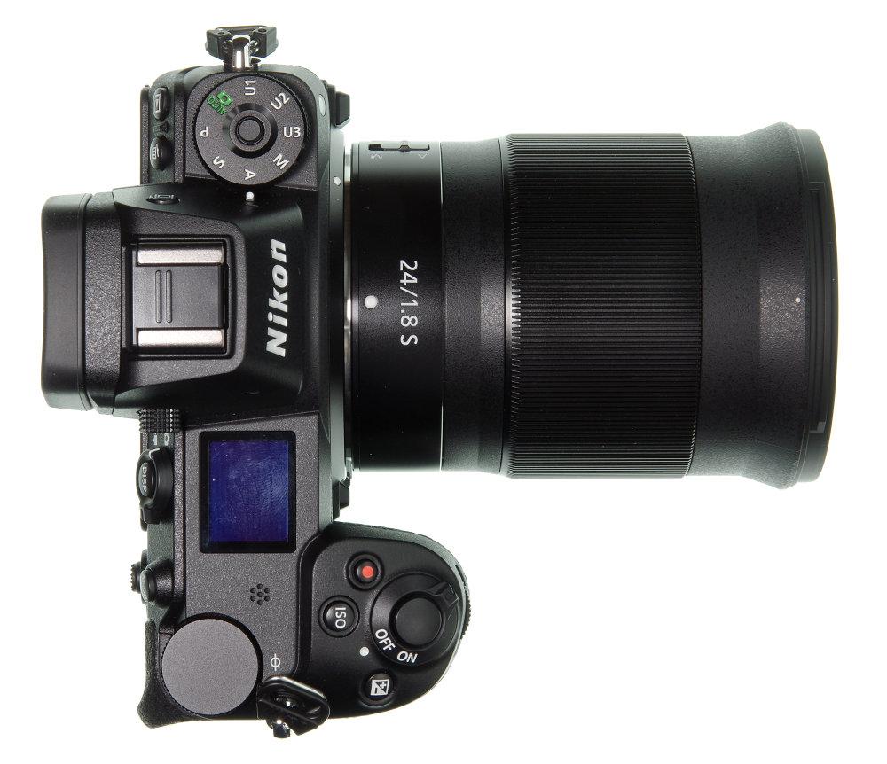 Nikkor Z 24mm F1,8S On Nikon Z7 Top View