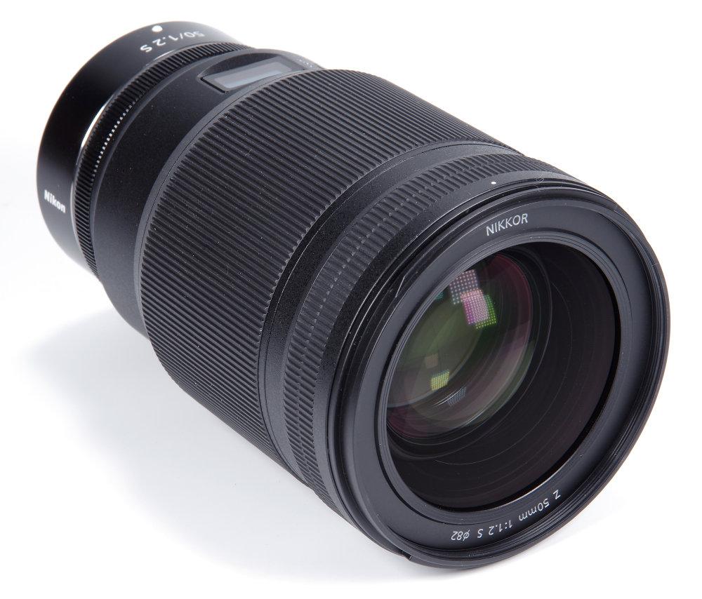 Nikkor Z 50mm F1,2S Front Oblique View