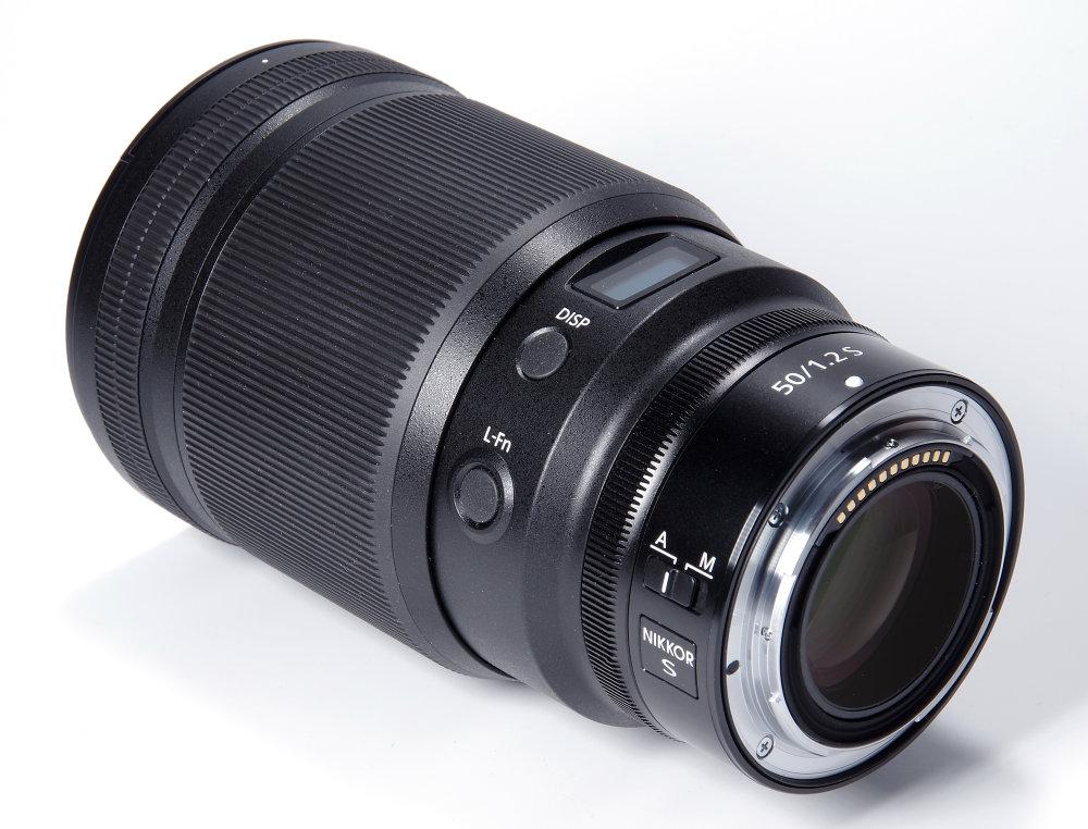 Nikkor Z 50mm F1,2S Rear Oblique View