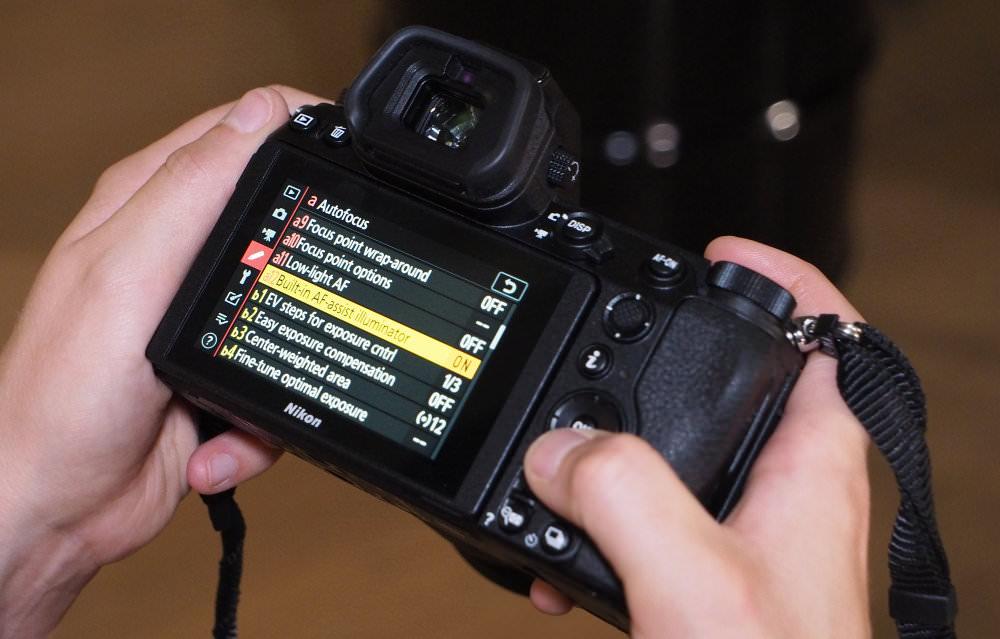 Nikon Z6 Z7 In Hand Menus
