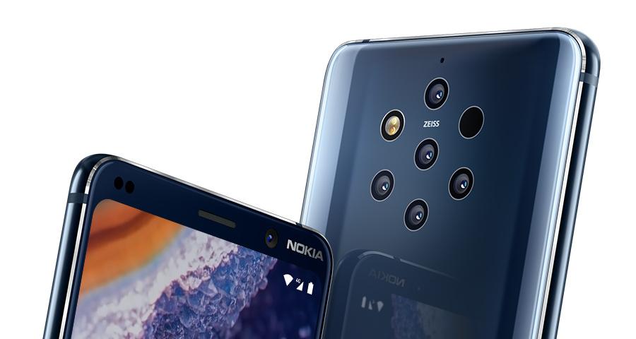HMDGlobal Nokia9PureView FrontandBack Vertical Close Up