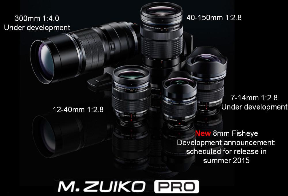 M Zuiko Pro Range 2015 Lenses