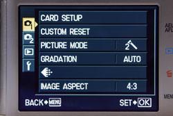 Olympus E-P1 main menu
