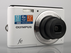 Olympus FE-4050 front and lens