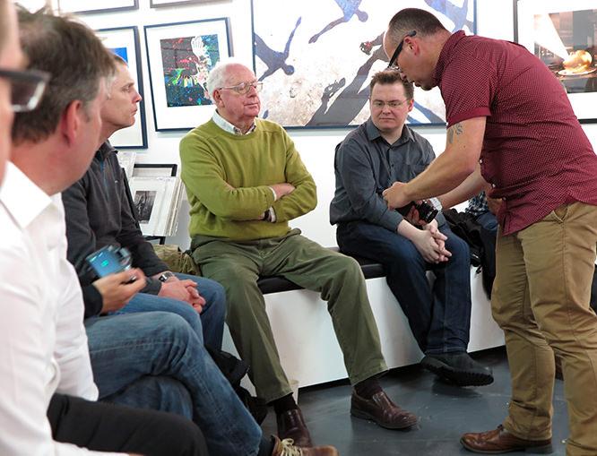 Rob Pugh with ePHOTOzine members.