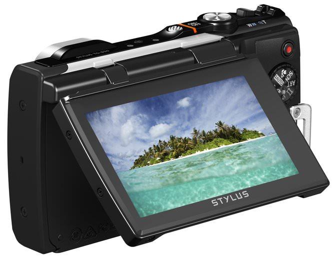 TG 850 White LCD Tilted Image 1