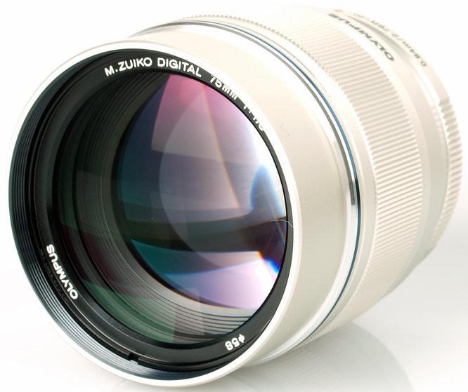 Olympus 75mm f/1.8 lens