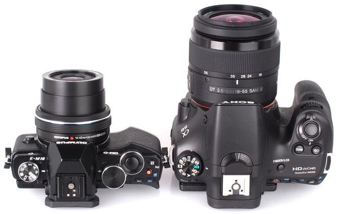 Olympus OM D E M10 Vs DSLR Sony Alpha A58 (5)