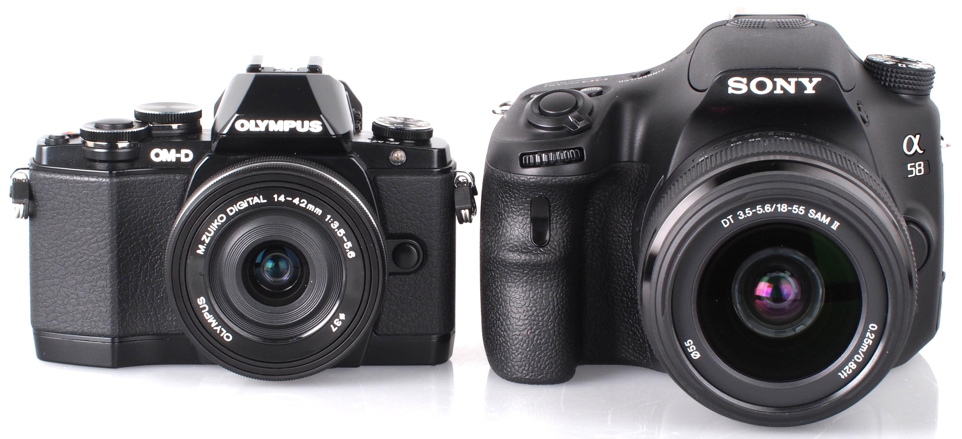 Camera Digital Camera Like Dslr olympus om d e m10 mirrorless vs sony alpha a58 dslr 2
