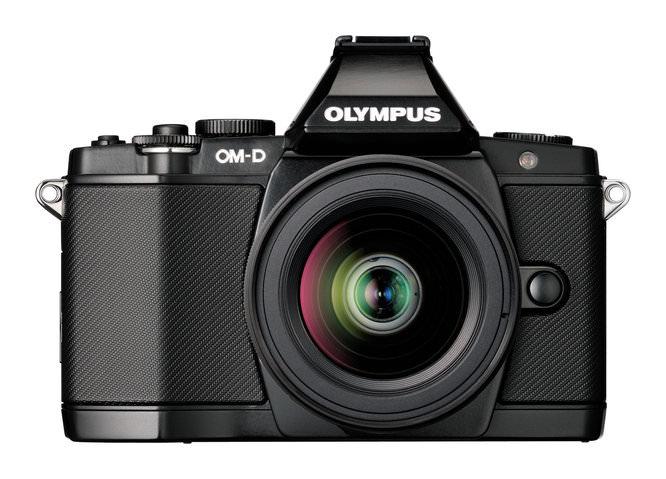 Olympus OM-D E-M5 front lens