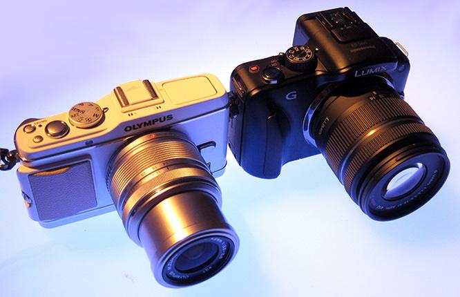 Olympus PEN E-P3 Size Comparison Panasonic Lumix G3
