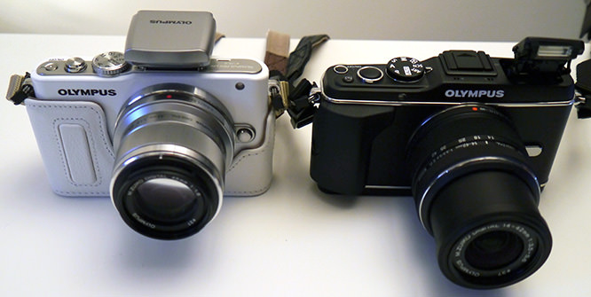 Olympus Pen Lite E-PL3 and E-P3