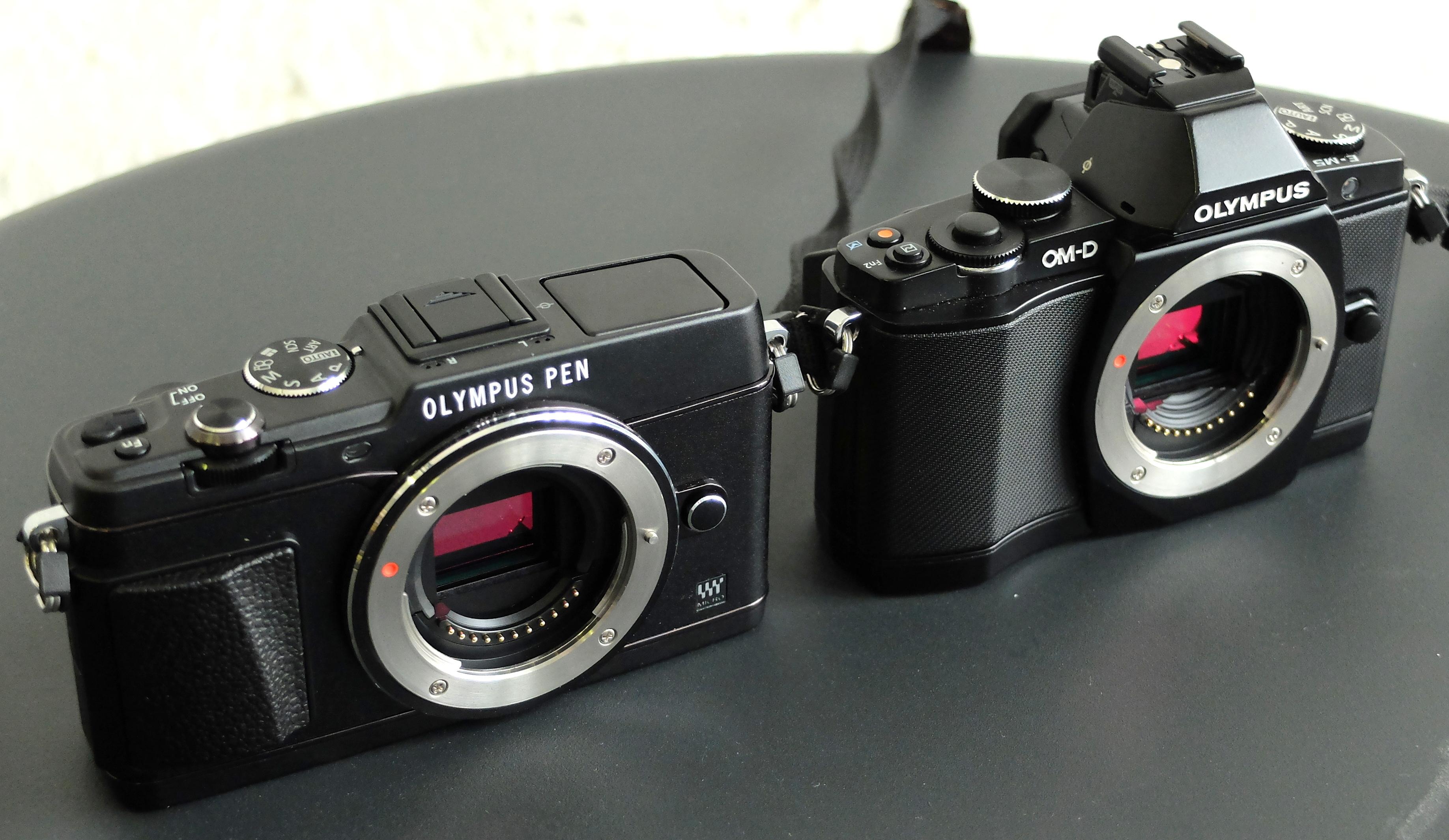 Olympus PEN E-P5 Vs Olympus OM-D E-M5 Comparison
