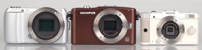 Sony NEX-C3, Olympus PEN Mini E-PM1, Pentax Q