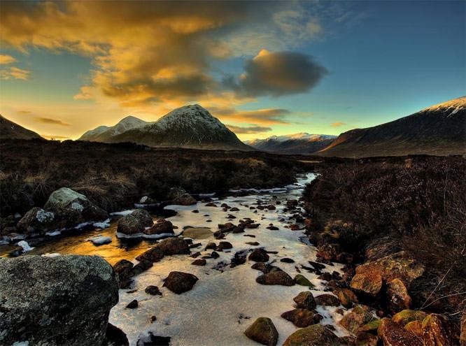 Sunset in the Glen