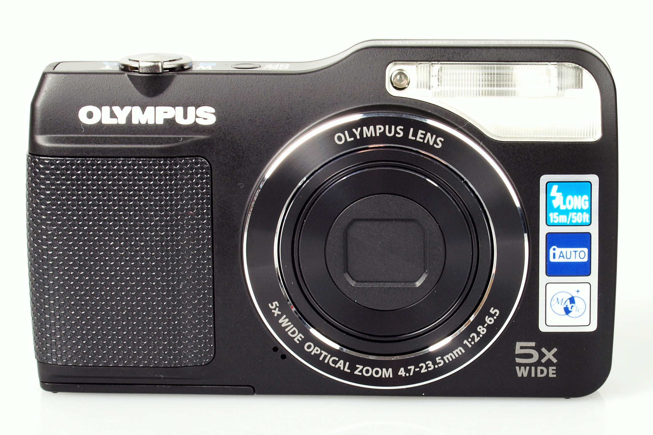 compact digital camera with a flash which is twice as powerful as a regular compact camera the vg 170 is available in white red and black for 8900 - Olympus Digital Camera