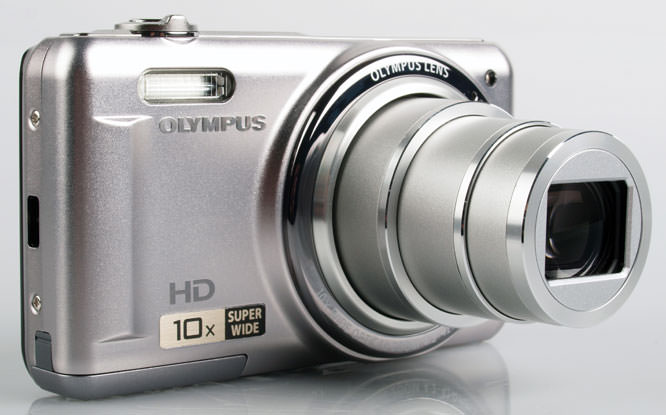 Olympus VR-310 Digital Compact Camera front lens