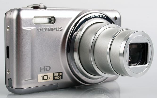 Olympus VR-310 Digital Compact Camera front lens