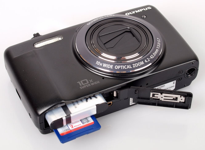 Olympus Vr-340 Battery And Memory Card