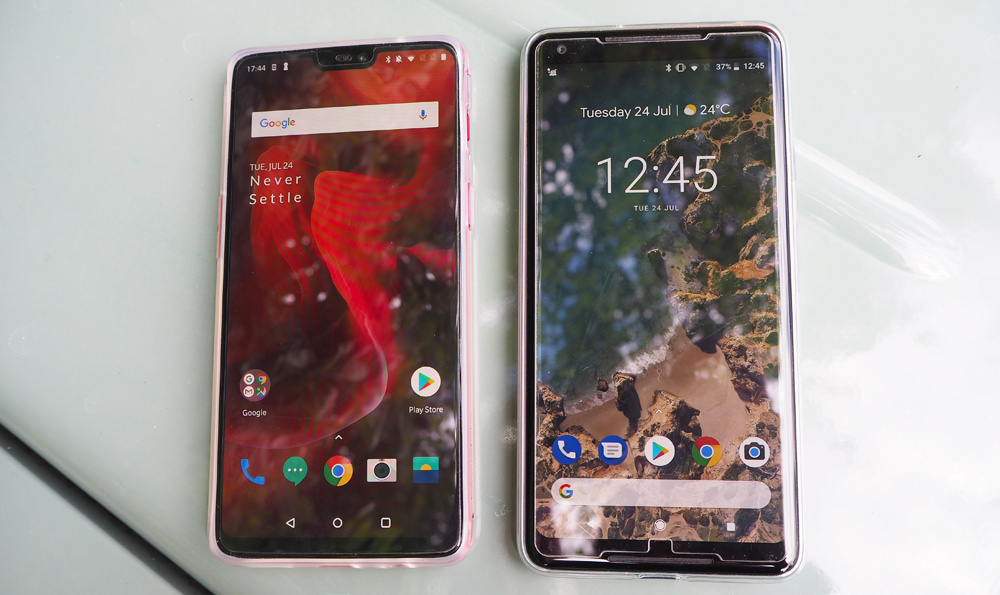 OnePlus 6 and Google Pixel 2 XL