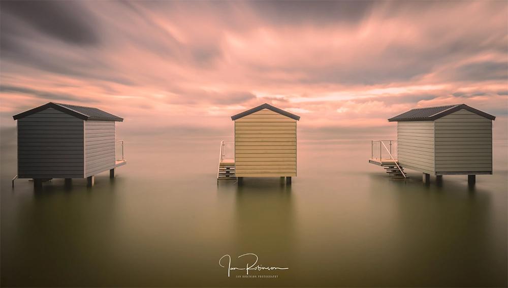 Osea Beach Huts by ianrobinson