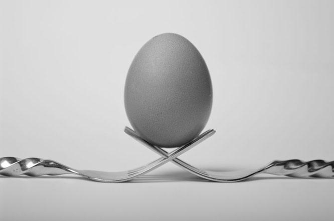 forks and egg