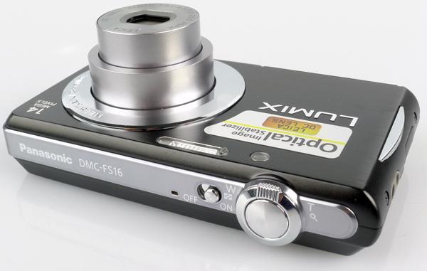 Panasonic Lumix DMC-FS16 top