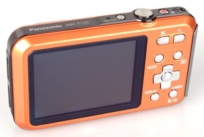 Panasonic Lumix Ft20 Orange  Rear